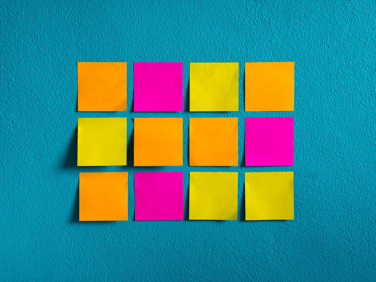 Use separate sticky notes